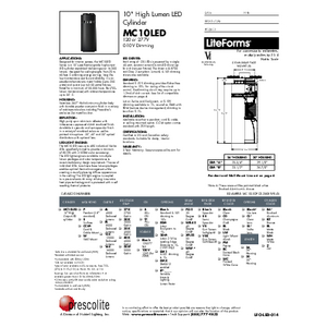 MC10LED Specification Sheet