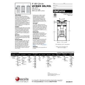 LCC8LED 30L Specification Sheet