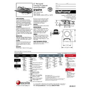 LF6CFH Lensed Specification Sheet