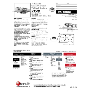 LF6CFH WW Specification Sheet