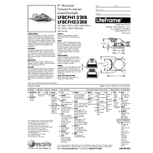 LF8CFH132/232 Lens Specification Sheet