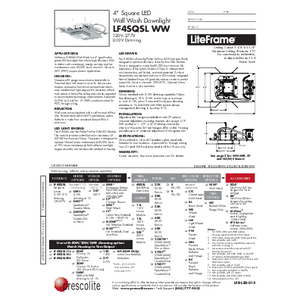 LF4SQSL WW Specification Sheet