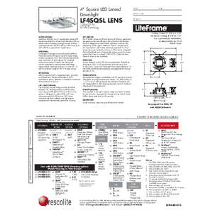 LF4SQSL Lens Specification Sheet