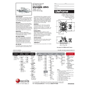 LF6SQML Lens Specification Sheet