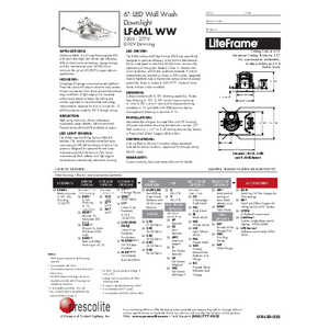 LF6ML WW Specification Sheet