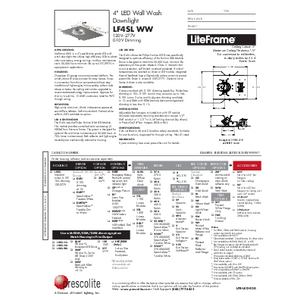 LF4SL Wall Wash Specification Sheet