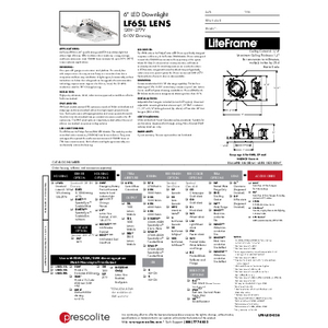 LF6SL Lens Specification Sheet