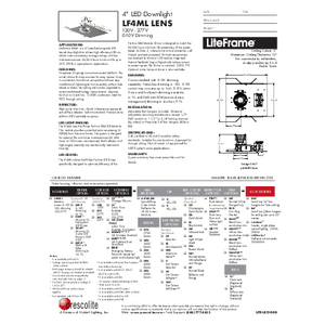 LF4ML Lens Specification Sheet