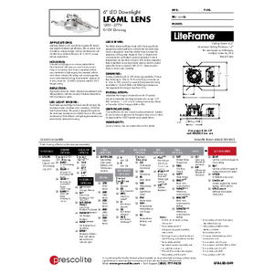 LF6ML Lens Specification Sheet