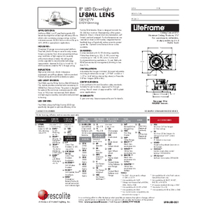 LF8ML Lens Specification Sheet