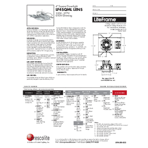 LF4SQML Lens Specification Sheet