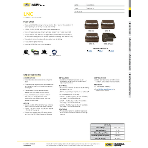LNC LED specification page