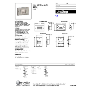 MSL Specification Sheet