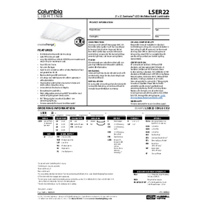 LSER22 Specification Sheet