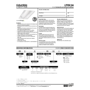 LTRX24 Specification Sheet