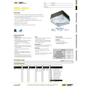 NRG4000 LED Specification Sheet