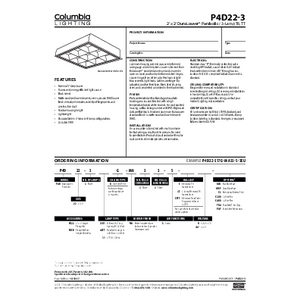 P4D22-3 Specification Sheet