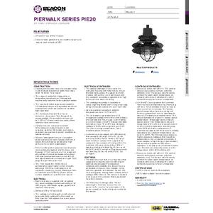 Pierwalk 20 Specifation Sheet