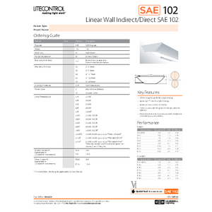 SAE102-W Specification Sheet