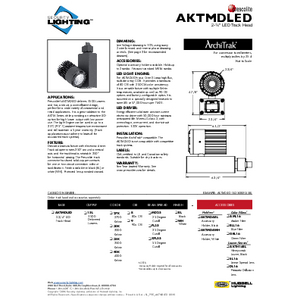 AKTMDLED Specification Sheet- Security Lighting