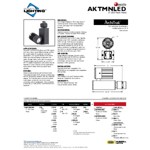 AKTMNLED Specification Sheet- Security Lighting