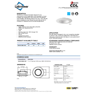 CDL Specification Sheet- Security Lighting