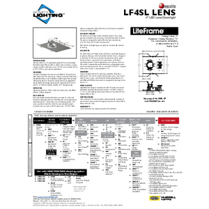 LF4SL Lens Specification Sheet- Security Lighting