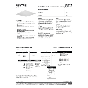 ST822 Specification Sheet